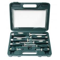 Magnetic go-through screwdriver set ''Profi''8pcs (SL:5.5х100,6.5х125,8.0х150,9.5х175,6.5х38mm, PH:1х