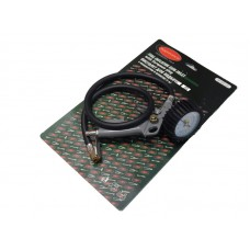 Gun for tire inflating with pressure gauge and hose 1m (0-15bar), in blister