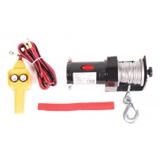 Car electric winch 0.9T, 12V (steel cable, cable Ø - 4.5mm)