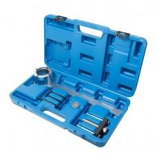 Crankshaft pulley removal tool set Jaguar, Land Rover 5pcs (3.2, 3.5, 4.0, 4.2, 4.4 V8), in a case