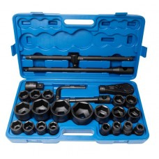 Air impact socket set 26pcs 3/4'', 1'', 6 point (17, 19, 22, 24, 27, 30, 32, 33, 34, 35, 36, 36 - 12 p