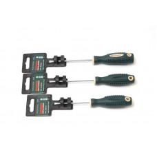 Screwdriver slotted magnetic ''Profi''S2 SL3.5х100mm, in plastic holder