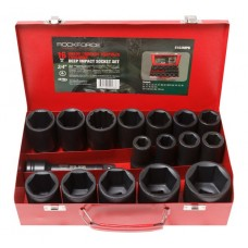 Deep impact socket set with extension 6 point, 150mm,16pcs, 3/4''(17,19,21,22,24,27,30,32,34,35,36,3