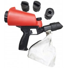 Gun for sandblasting machine with integral sand capacity 1L and rubber guides (4pcs)