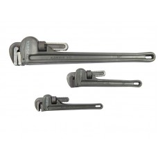 Adjustable pipe wrench with aluminum handle 10'', max grip Ø 50mm
