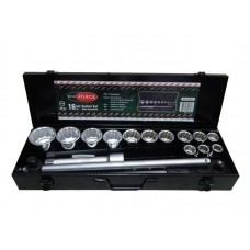 Tool set 16pcs 3/4'', 12 point