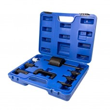 Diesel injector extractor tool set 9pcs (slide hammer), in a case