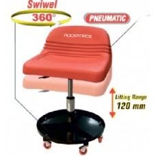 Creeper seat rolling with backrest (swiwel 360°, adjustable height)