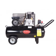 Double piston belt driven air compressor (2.2kW, 8 bar, receiver 70L, 250 l/m, 950 rpm, 220V, with c