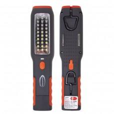LED rechargeable work light (2 magnets, 2 hooks, 180g, side light 3W30LED, front light 1W1LED, 3.7V,